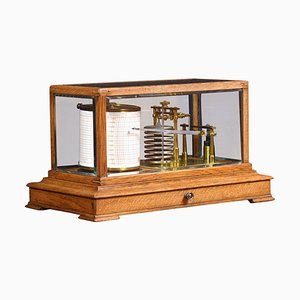 Oak Cased Barograph, 1900s