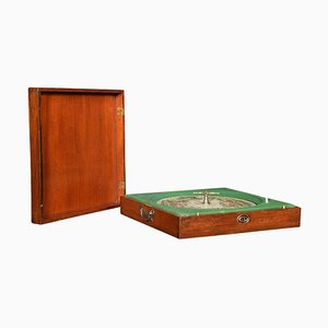 Mahogany Cased Sandown Roulette Style Horse Racing Game from F.H. Ayres, London, 1890s