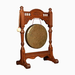 Antique Walnut Framed Dinner Gong
