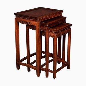 Tavolini a incastro in palissandro, Cina, inizio XX secolo