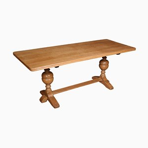 Antique Blond Oak Refectory Table