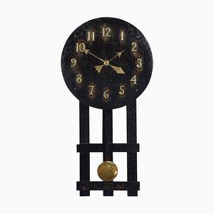 Antique Oak Wall Hanging Missionary Clock