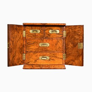 Late Victorian Figured Walnut Humidor