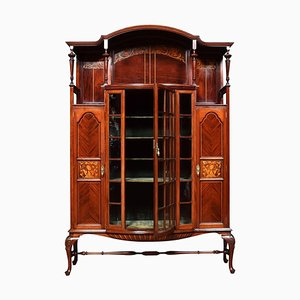 Art Nouveau Inlaid Display Cabinet