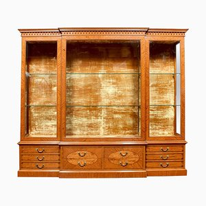Late-19th Century Satinwood Display Cabinet