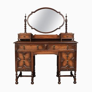 Jacobean Style Oak Dressing Table, 1930s