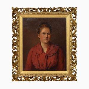 Öl auf Leinwand Portrait einer Dame, 1889