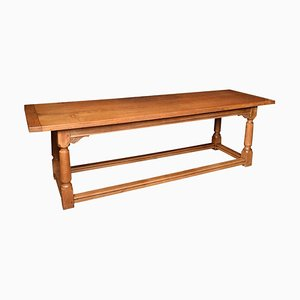 Large Light Oak Refectory Dining Table, 1920s