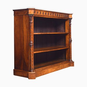 Antique Gothic Revival Walnut Open Bookcase