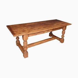 Antiker Ulmenholz Plank Tisch Refektoriumstisch