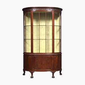 Antique Mahogany Bow Fronted Display Cabinet