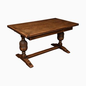 Oak Draw Leaf Refectory Table, 1900s