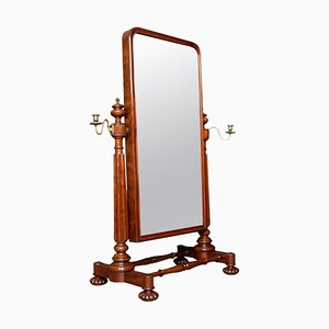 Antique George IV Mahogany Cheval Dressing Mirror