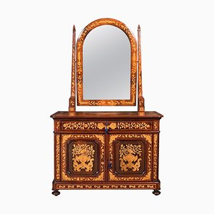 Antiker niederländischer Mahagoni Frisiertisch