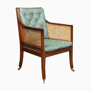 Antique Regency Style Mahogany Bergère Armchair