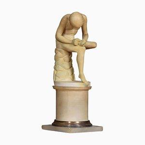 Alabaster Spinario Figure, 1900s