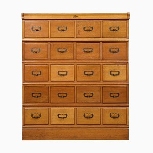 Oak Sectional Filing Cabinet, 1900s