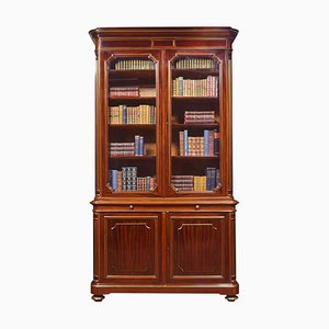 Antique Mahogany and Gilt Metal Mounted 2-Door Bookcase