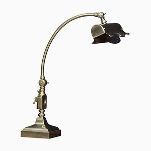 Brass Adjustable Bankers Desk Lamp, 1920s