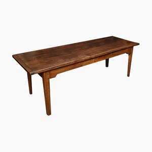 Antique Elm Plank Top Refectory Table