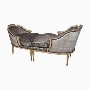 Chaise longue Louis XV Style Duchess antigua. Juego de 2