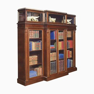 Late-19th Century Breakfront Display Bookcase