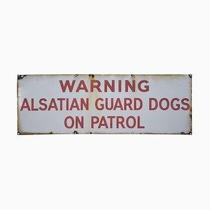 Enamelled Alsatian Sign, 1920s