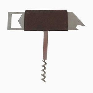 Bird Bottle Opener in Stainless Steel & Leather by Carl Auböck for Amboss, 1960s