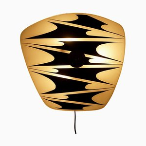 Vintage Glass Plate Wall Light from Designfornication, 1956
