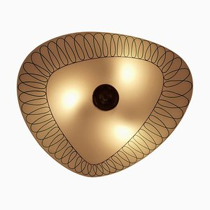 Mid-Century Wall Light with Glass Plate from Designfornication, 1956