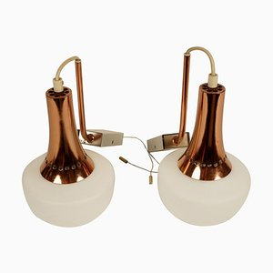Hanging Wall Sconces, 1950s, Set of 2