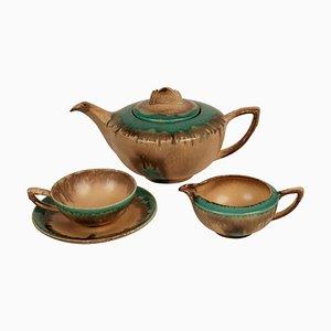 Cabana Style Ceramic Tea Set, Germany, 1920s, Set of 15
