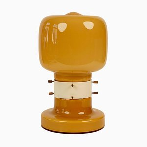 Opaline Table Lamp from Zavod Kovoremesel, 1970s