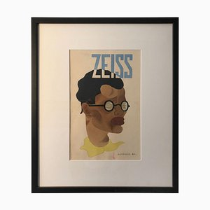 Zeiss Watercolor Advertising Study, 1920s