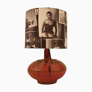Mid-Century Hungarian Studio Ceramic Table Lamp, 1950s