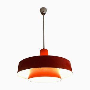 Danish Red Equator Lamp by Jo Hammerborg, 1968