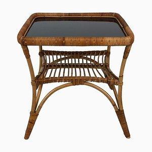 Mid-Century Italian Bamboo Garden Coffee Table & Chairs, 1960s, Set of 3