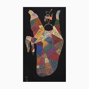 Modern Tapestry by Wassily Kandinsky for Sur Fond Noir, 1940s