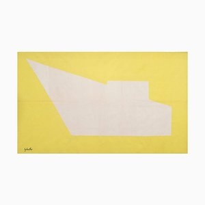 Handgewebter Geometrischer Wandteppich von Émile Gilioli für Agressivité Pure, 1960er