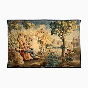 18th Century Louis XVI Romantic Scene Sublime Aubusson Tapestry from Aubusson Manufacture