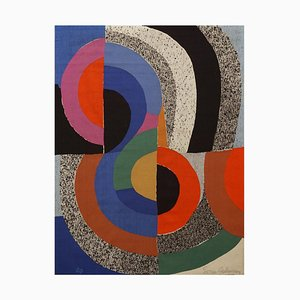Modern Woven Hippocampe Tapestry by Sonia Delaunay for Pierre Daquin, 1970s