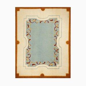 Art Deco Blue Wool Rug by Robert Debieve, 1940s