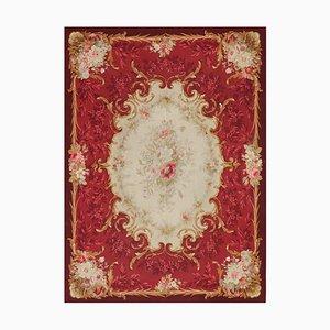 Mid-19th Century Napoleon III Handwoven Aubusson Wool & Silk Rug