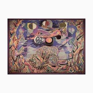 Modern Allegorie Du Temps Tapestry by Claude Dodane, 1940s