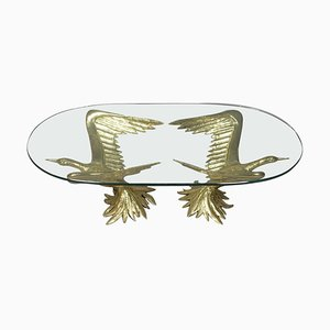 Coffee Table with Pair of Winged Birds by Jacques Duval Brasseur, 1970s