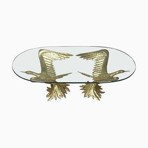 Couchtisch mit geflügeltem Vogelpaar von Jacques Duval Brasseur, 1970er