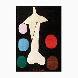 Moderner Künstlerischer Égoïsm Teppich aus Wolle nach Gemälde von Francis Picabia, 1950er