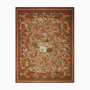 French Restoration Period Hand Woven Aubusson Rug, 1830s