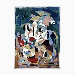 Handgefertigter Wollteppich nach Albert Gleizes, 1990er