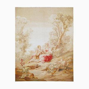 19th Century Romantic Scene Tapestry from Aubusson